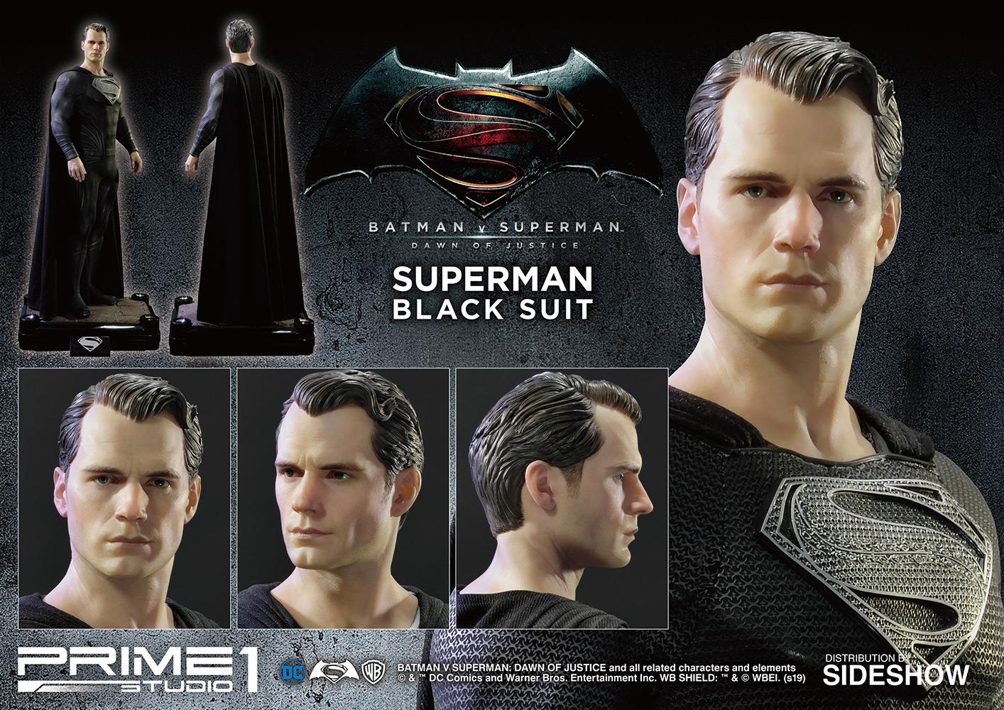 Superman (Black Suit Version) Statue by Prime 1 Studio
