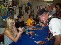 Laura Vandervoort and Sam Witwer