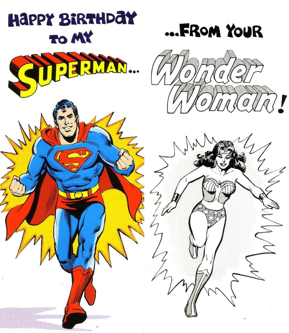 Открытки с днем рождения с суперменом