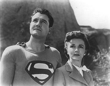 Phyllis Coates and George Reeves
