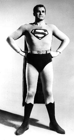 George as Superman