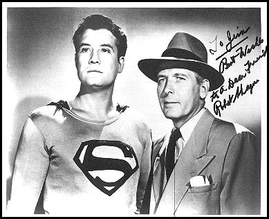 George Reeves and Robert Shayne