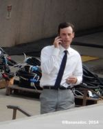 Scoot McNairy on Set