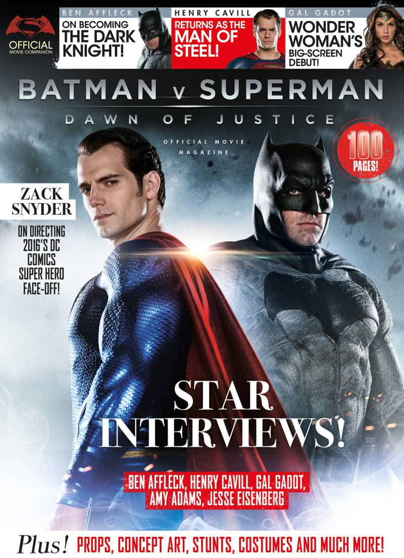 In partnership with warner bros titan magazines is publishing the batman v superman dawn of justice official movie magazine