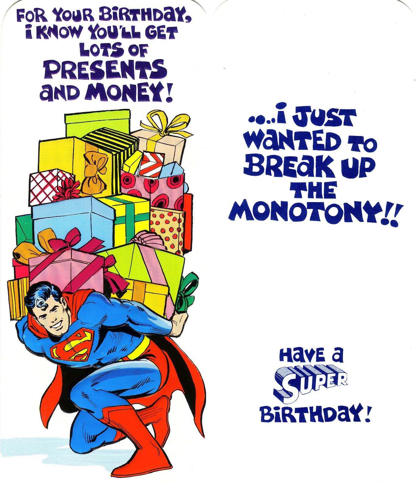 Открытка с днем рождения супергерой