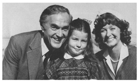 Kirk Alyn and Noel Neill with a young Lois Lane