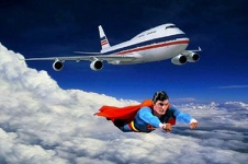 Superman and Plane