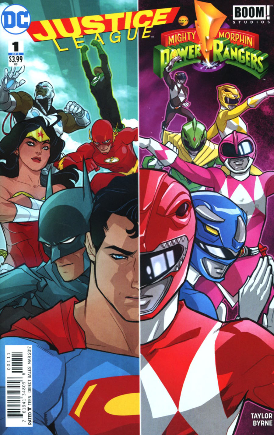 Justice League/Power Rangers #1