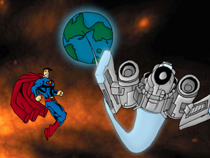 Superman overlooks the Space Operation