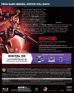 Justice League: Gods and Monsters Blu-Ray Back Cover