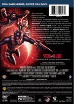 Justice League: Gods and Monsters DVD Back Cover