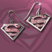 Supergirl™  Pink Crystal Earrings