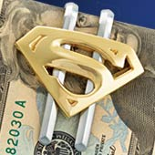 Superman Returns™ Shield Money Clip - Gold Plated