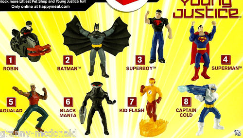 Young Justice toys at McDonald sYoung Justice Captain Cold