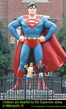 Superman Statue in Metropolis