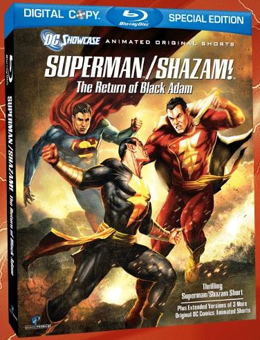 Superman shazam return of black adam showcase dvd art released inside pulse - Showcase dvd ...