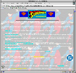Original 1996 Superman Homepage
