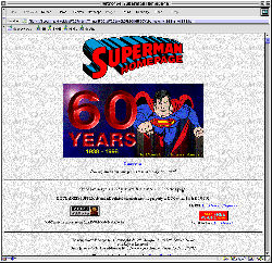 1998 Superman Homepage
