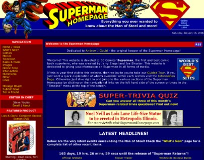 2005 Superman Homepage