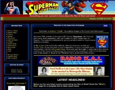 2006 Superman Homepage