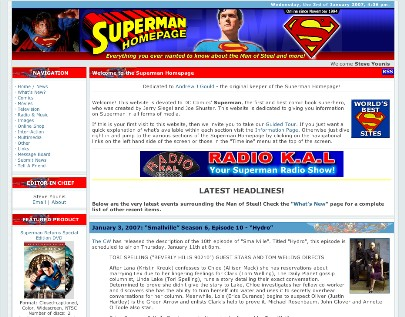 2007 Superman Homepage