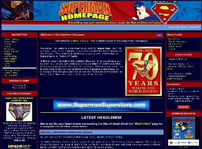2008 Superman Homepage