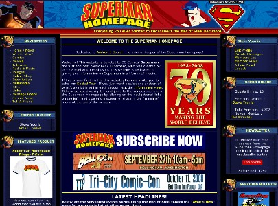 2009 Superman Homepage