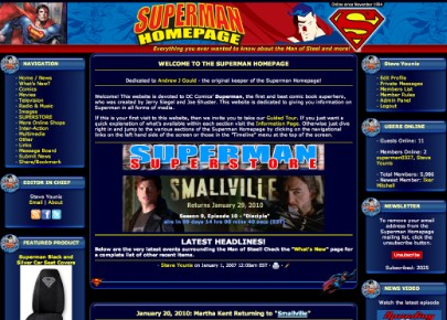 2010 Superman Homepage