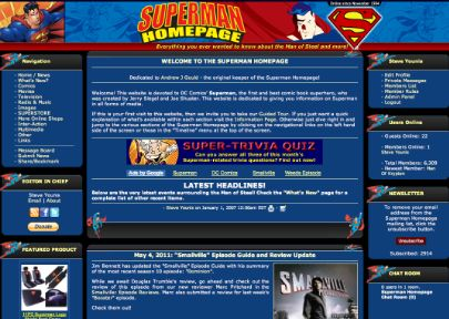 2011 Superman Homepage